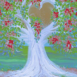 First Star Art  - Brides Tree red by jrr