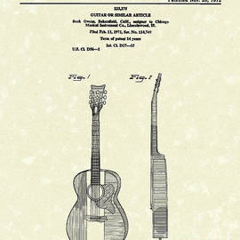 Prior Art Design - Buck Owens Guitar 1972 Patent Art