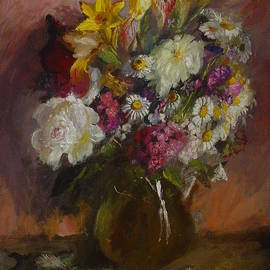 Peter Fokeev - Bunch of flowers with a peony
