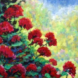 Richard T Pranke - Cascade of Geraniums