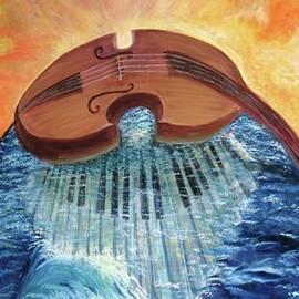 Cello above sunken Piano