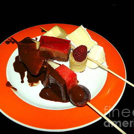 Sue Melvin - Chocolate and Cheese on a Plate