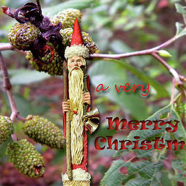 Larry Bishop - Christmas card - Skinny Santa