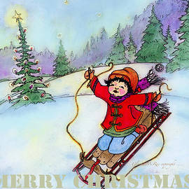 Glenna McRae - Christmas Joy Child on Sled