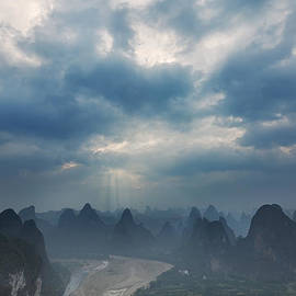 Afrison Ma - Cloudy Sunset in Guilin Guangxi China