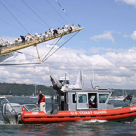 Kym Backland - Coast Guard With Tall Ships