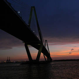 Leslie Revels Andrews - Cooper River Bridge At Sunset