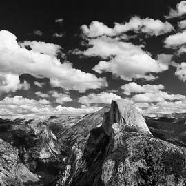Troy Montemayor - Cumulus Clouds and Half Dome Yosemite National Park