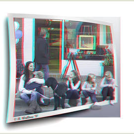 Brian Wallace - Curb Resting - Red-Cyan 3D glasses required