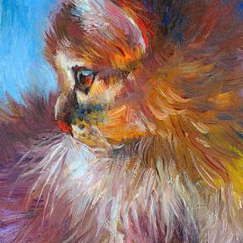 Svetlana Novikova - Curious Tubby Kitten painting