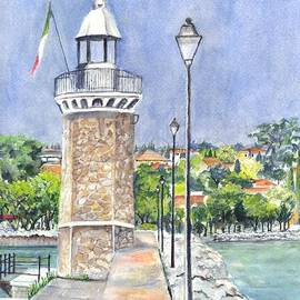 Carol Wisniewski - Desanzano Lighthouse and Marina on Southern coast of Lake Garda Italy