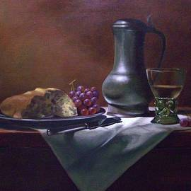 Tom Jennerwein - Dutch roemer with bread and grapes