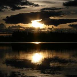 Sharon Mau - Dzie Hauk Tonga Might Thunderbird Sunset Reflections Chena Lakes Alaska North Star