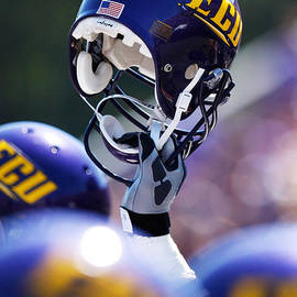 Rob Goldberg - ECU Helmet Held High