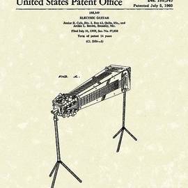 Prior Art Design - Electric Guitar 1960 Patent Art