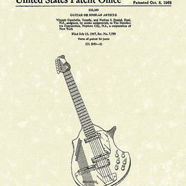 Prior Art Design - Electric Guitar 1968 Patent Art