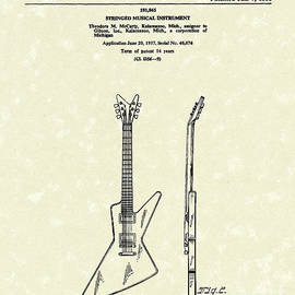 Prior Art Design - Electric Guitar McCarty Gibson I Patent Art