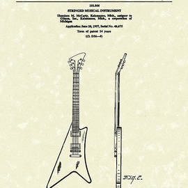 Prior Art Design - Electric Guitar McCarty Gibson II Patent Art