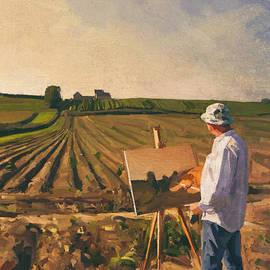 En plein air painter self portrait