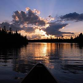 Larry Ricker - Evening Paddle on Spoon Lake