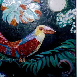 Anne-Elizabeth Whiteway - Ey Up Me Duck Parrot painting