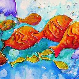 Chris Hobel - Fish Abstract Painting