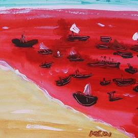 Mary Carol Williams - Fishing Boats on a Red Sea