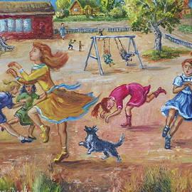 Dawn Senior-Trask - Girls Playing Horse