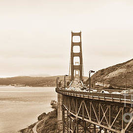 Betty LaRue - Golden Gate Bridge in Sepia
