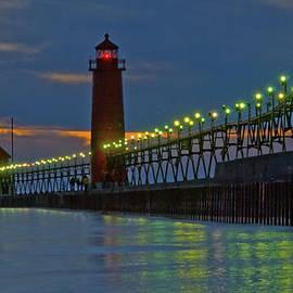 Roger Swieringa - Grand Haven Pier at Night