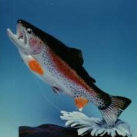 Stacey Mitchell - Hand Carved Rainbow Trout