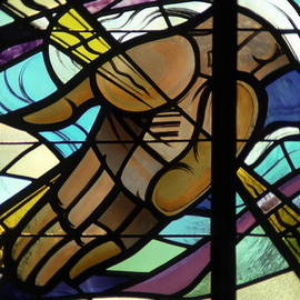 Sally Weigand - Hand of God Stained Glass