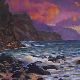 Richard Nowak - Hawaiian Waves on Rocks