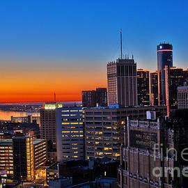 Tina Logan - HDR Detroit Skyline Sunrise