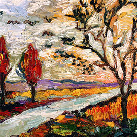 Ginette Callaway - Autumn Landscape Oil Painting Heading South