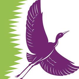 Aloysius Patrimonio - Heron Crane Flying Retro