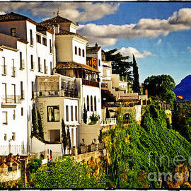 Mary Machare - Houses on the Cliff in Ronda Spain
