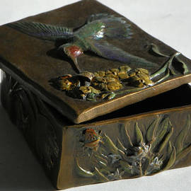 Dawn Senior-Trask - Hummingbird Box with Painted Patina - Y bug side
