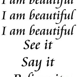 Andee Design - I am beautiful See it Say it Believe it