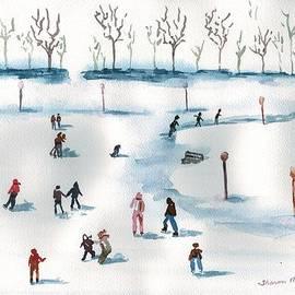 Sharon Mick - Ice Skating on the Pond