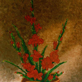 Madalena Lobao-Tello - Ikebana with gladioli