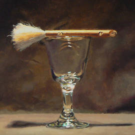 Jeffrey Hayes - Japanese Brush and Wineglass