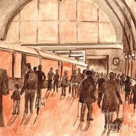 Kings Cross Railway Station London England