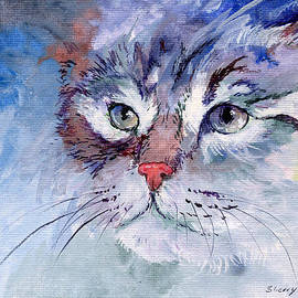 Sherry Shipley - Kitty in Blue