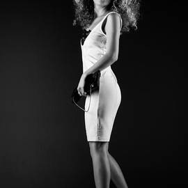 Ralf Kaiser - Lady With Curly Hair Bw