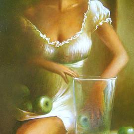 Vali Irina Ciobanu - Lady with green apples