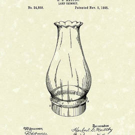 Prior Art Design - Lamp Chimney 1895 Patent Art