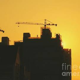 Yali Shi - Large Construction Site at Sunset