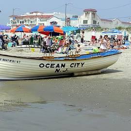 Sven Migot - Lifeguard Boat at Ocean City Boardwalk New Jersey