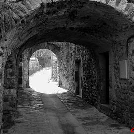 Colette V Hera  Guggenheim  - Little street La Roche Alba Ardeche France